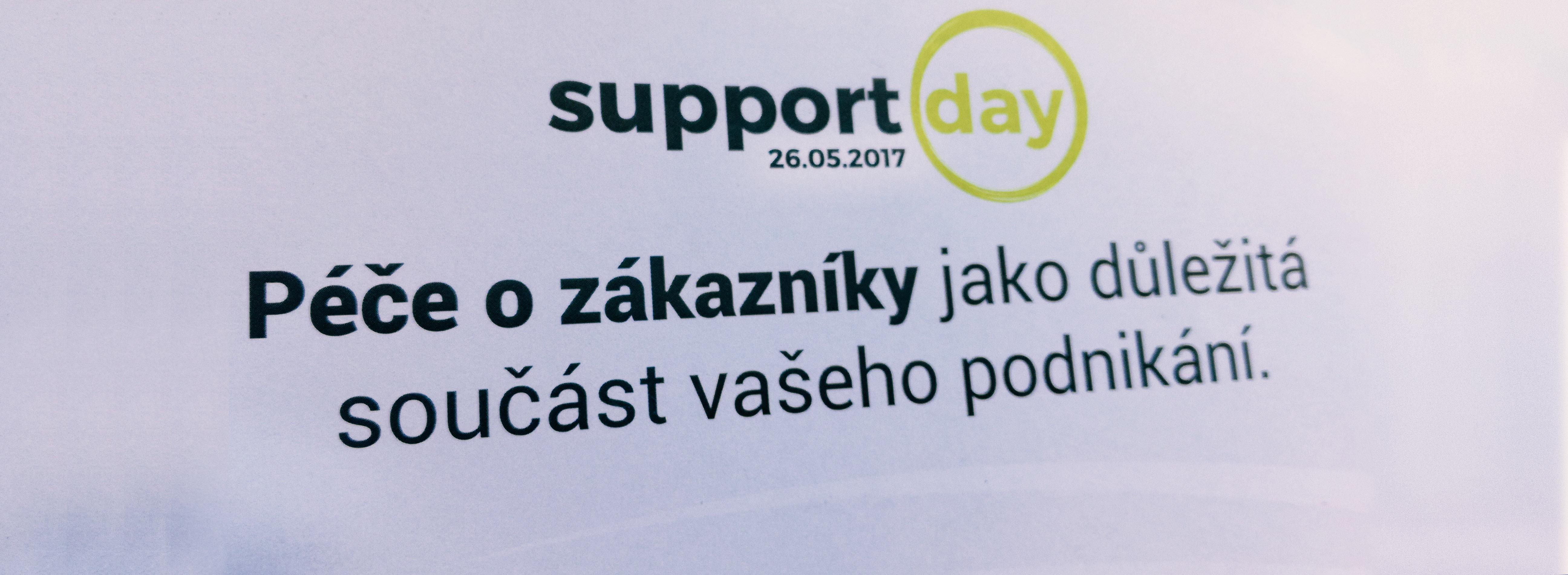 O podpoře s podporou – Support Day 2017